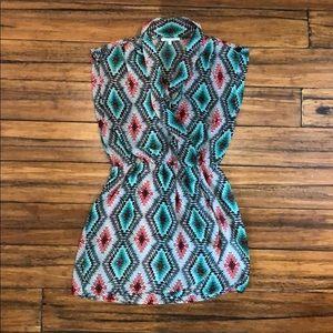 Collective Concepts boho faux wrap dress